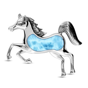 MarahLago Wildlife Collection Larimar Horse Pendant/Necklace