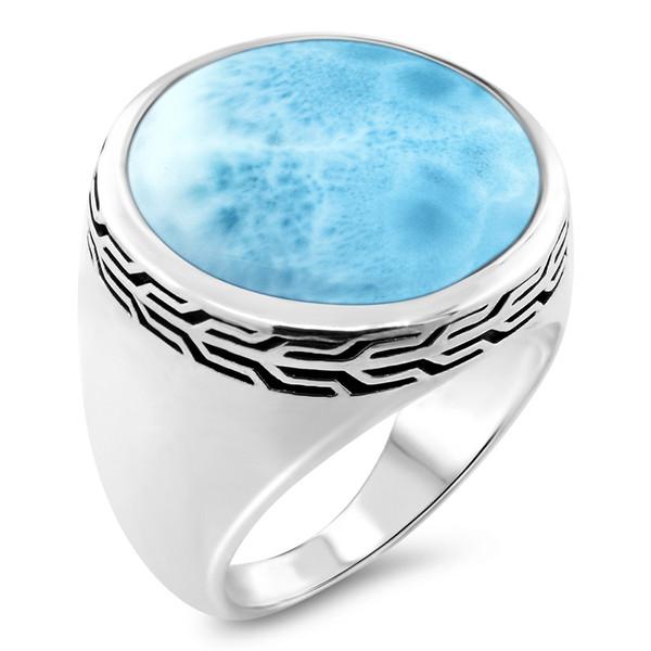 MarahLago Tonela Collection Larimar Ring (Men)