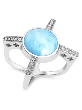 MarahLago Destiny Collection Larimar Ring - 3x4