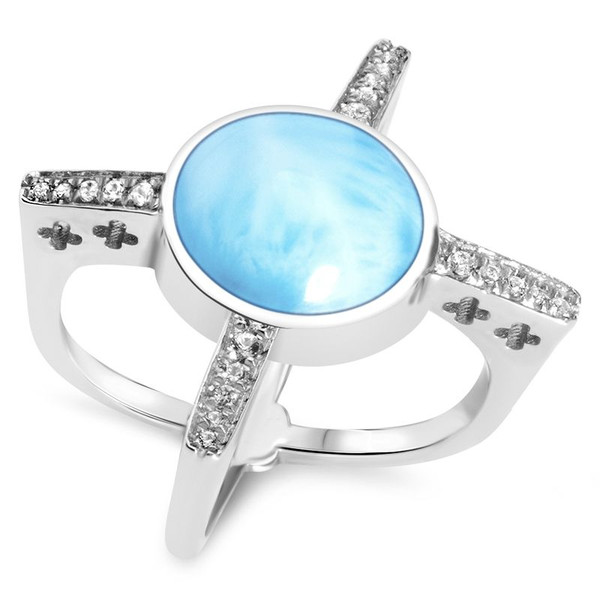 MarahLago Destiny Collection Larimar Ring