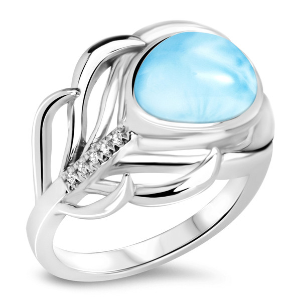 MarahLago Willow Collection Larimar Ring