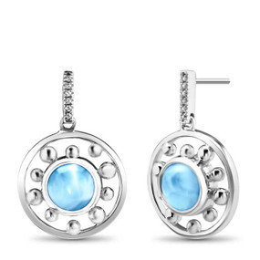 MarahLago Zion Collection Earrings with Blue Spinel