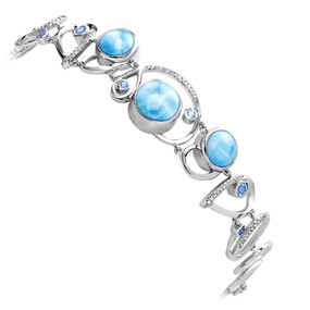 MarahLago Mia Collection Larimar Bracelet with Blue Spinel