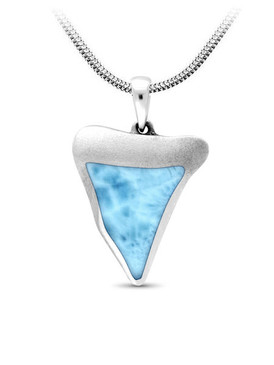 MarahLago SeaLife Collection Larimar Shark Tooth Necklace