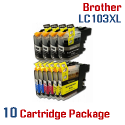 Brother LC103XL 10 Cartridge Package Compatible Printer Ink Cartridges
