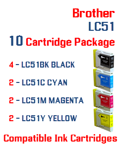 10 LC51 Compatible Cartridge Package