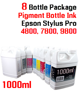 8 Refill Ink Epson Stylus Pro 7800/9800 Printers 1000ml