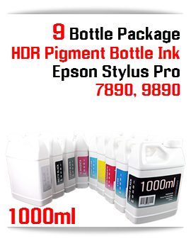 1000ml compatible UltraChrome HDR Pigment Ink Epson Stylus Pro 7890, 9890 printers
