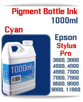 Cyan Epson Stylus Pro Printers Compatible UltraChrome Pigment Ink 1000ml Bottle