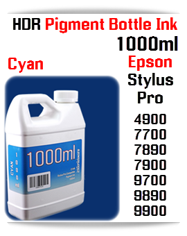 1000ml bottle Refill UltraChrome HDR Pigment Ink Compatible with Epson Stylus Pro Printers 4900, 7700, 9700, 7890, 9890, 7900, 9900