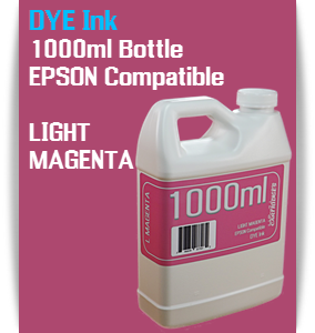 Light Magenta 1000ml DYE Bottle Ink Epson Stylus Pro Printers