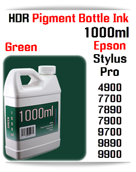 Green Refill Epson Stylus Pro 1000ml HDR Pigment Ink
