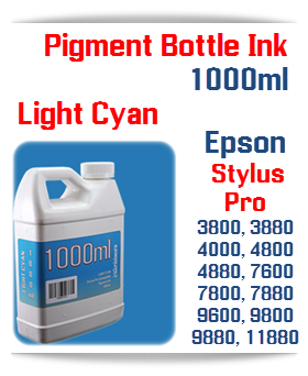 Light Cyan Epson Stylus Pro Printers Compatible UltraChrome Pigment Ink 1000ml Bottle