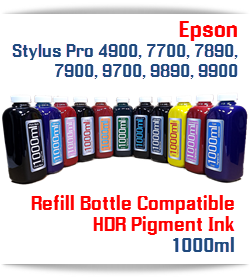 1000ml bottle Refill UltraChrome HDR Compatible Pigment Ink