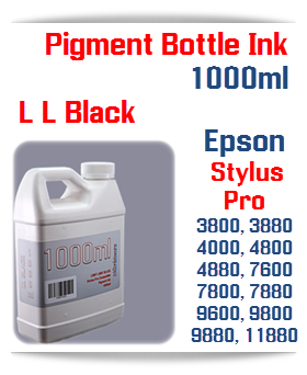 Light Light Black Refill Epson Stylus Pro 1000ml Compatible UltraChrome Pigment Ink