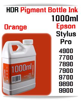 Orange Refill Epson Stylus Pro 1000ml HDR Pigment Ink