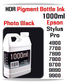 Photo Black Refill Epson Stylus Pro 1000ml Compatible UltraChrome HDR Pigment Ink