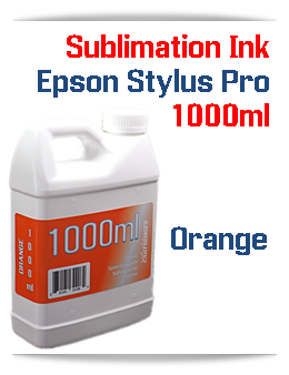 Orange 1000ml Sublimation Ink