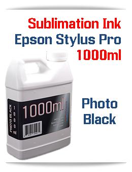 Photo Black 1000ml Sublimation Ink Epson Stylus Pro Printers