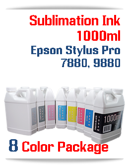 8 color package Sublimation 1000ml Bottle Ink Epson Stylus Pro 7880, 9880 printers