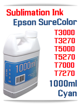 Cyan Sublimation Ink 1000ml Epson SureColor T-Series Printers