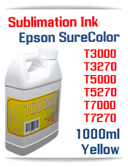 Yellow Sublimation Ink 1000ml Epson SureColor T-Series Printers