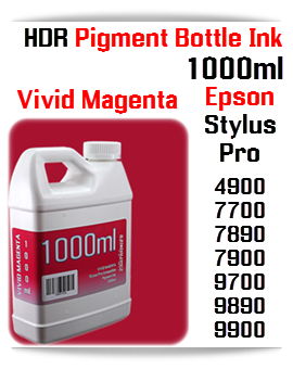 1000ml bottle Refill UltraChrome HDR Pigment Ink Compatible with Epson Stylus Pro Printers 4900, 7890, 7900, 9890, 9900