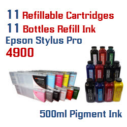 Refillable Cartridge Package Epson Stylus Pro 4900 Printer