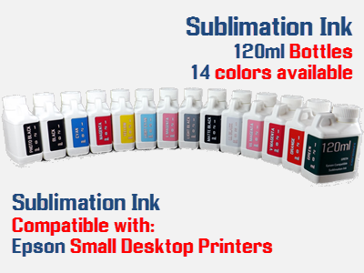 14 Sublimation ink colors