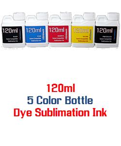 5 bottles 120ml Dye Sublimation Ink