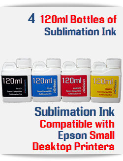 4-120ml Bottle Refill Sublimation Ink Epson Desktop Printers