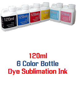 6 120ml Color Dye Sublimation Bottle Ink Package