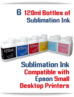 6 120ml Bottles Sublimation ink