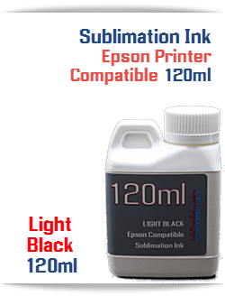 Light Black Epson Compatible 120ml Bottle Sublimation Ink