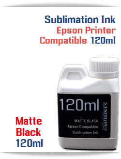 Matte Black Epson Compatible 120ml Bottle Sublimation Ink