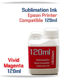 Vivid Magenta Epson Compatible 120ml Bottle Sublimation Ink