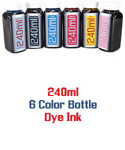 6 240ml Color Dye Bottle Ink Package