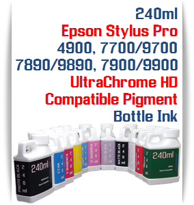 240ml Bottle Compatible UltraChrome HD Pigment Ink Epson Stylus Pro Printers