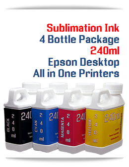 4 240ml Bottles Sublimation ink