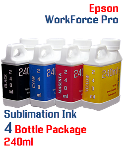 Sublimation Ink 4 Bottle Package 240ml