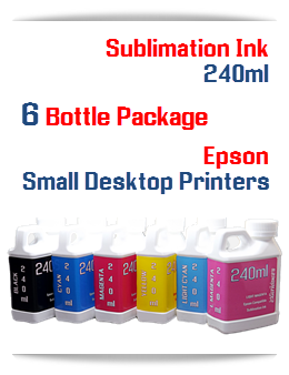 6 240ml Bottles Sublimation ink