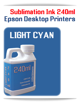 LIGHT CYAN Epson Small Desktop Sublimation Ink 240ml