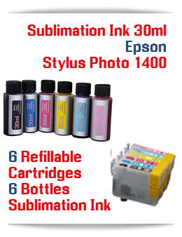 Sublimation Ink Refillable Cartridges, Epson Stylus Photo 1400