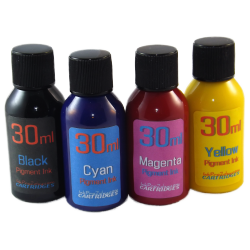4 30ml Bottles of Refill Pigment Ink