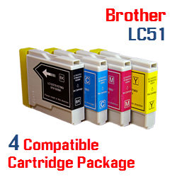 4 LC51 Compatible Cartridge Package