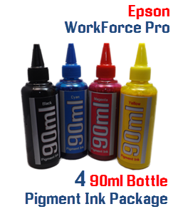 4 90ml Bottle  Pigment Ink Package Epson WorekForce Pro