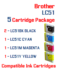 5 LC51 Compatible Cartridge Package