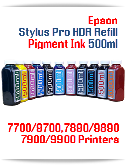 Epson Stylus Pro Refill HDR Pigment Ink 500ml