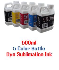 5 bottles 500ml Dye Sublimation Ink