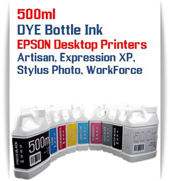 500ml DYE Bottle Ink EPSON Desktop Printers Artisan, Expression XP, Stylus Photo, WorkForce